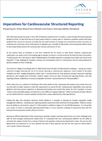 Imperatives for Cardiovascular Structured Reporting