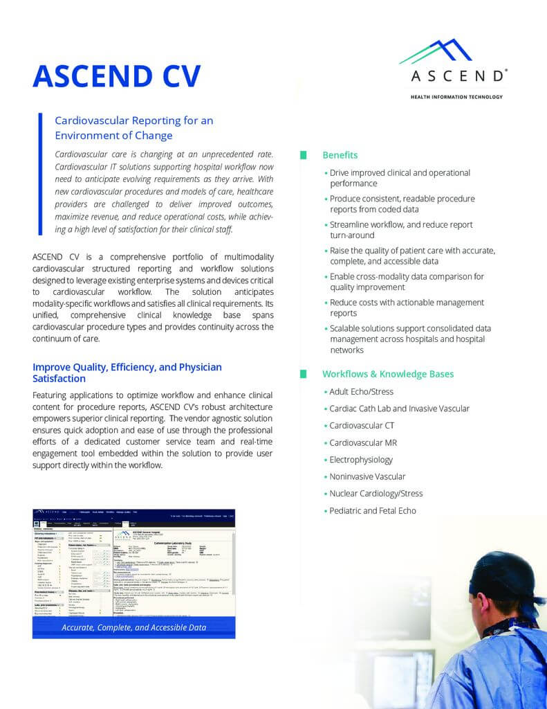 ASCEND CV datasheet - ASCEND